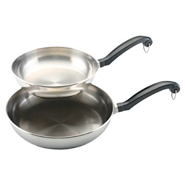 Farberware Classic Stainless Steel 8-Inch and 10-Inch Twin Pack Skillet Set