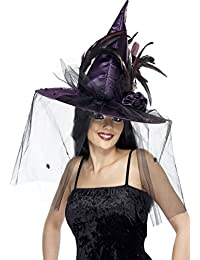 Smiffys Women's Purple Deluxe Witch Hat