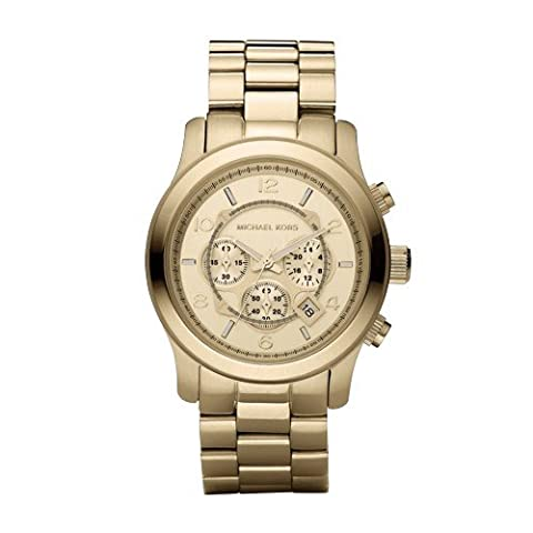 Michael Kors MK8077 Gold-Tone Men's Watch (Watches Michael Kors In Clearance)