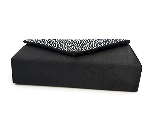 Bag Frosty Shoulder Diamonds Essvita Wedding Black On Party Black Women Clutch Bridal Bags Evening For Bag SSXBx7Uq8