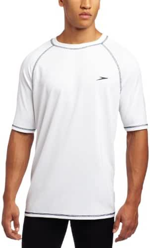 Speedo Men's UPF 50+ Short-Sleeve Rashguard Swim Tee