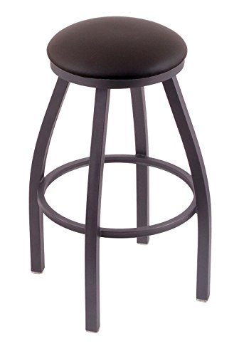 41JwmcrE82L - Holland-Bar-Stool-Co-802-Misha-25-Counter-Stool-with-Pewter-Finish-and-Swivel-Seat-Allante-Espresso