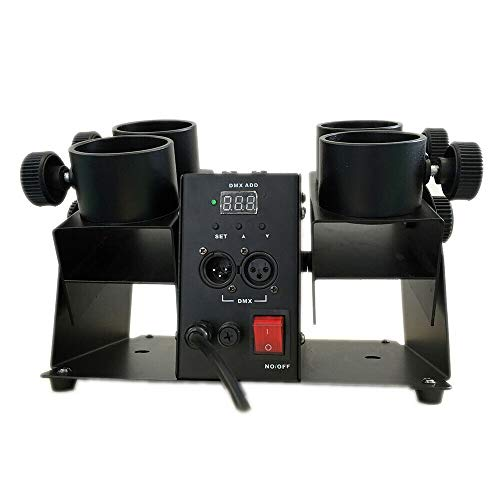 Four-Head Fireworks Transmitter 110V American Standard, 4 Control Confetti Launcher Machine DJ Party Head Shot Stage Cannon DMX Four-Tube Fireworks for Wedding Disco Event Show New Shots from LOYALHEARTDY19