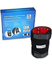 Red Light Therapy Near Infrared Knee Heated Wrap Pad LED 880 nm Elbow Brace Pain Relief Device Benefits Arthritis Pain Deep Penetrating Heals for Arthritis Sore Muscle