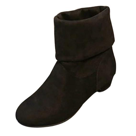 Mujer Botas Navidad Zapatos tacón Alto,JiaMeng ❤ Botas de Gamuza de Mujer de