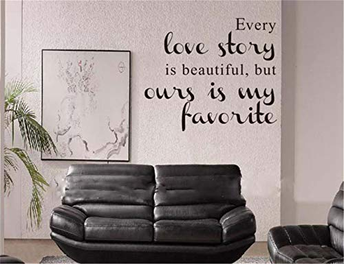 Hueoi Vinyl Wall Statement Family DIY Decor Art Stickers Home Decor Wall Art English Famous Quote Every Love Story Waterproof and Easily Sticker Decor]()