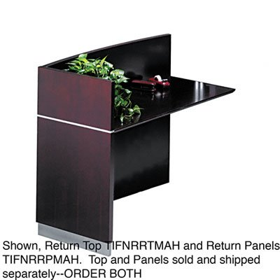 Napoli Series Reception Desk Return Top, 48w x 25-1/4d x 15h, Sierra Cherry (MLNNRRTCRY) Category: Wood (Napoli Series Reception Desk)