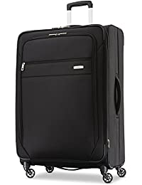 Advena Softside Expandable Luggage with Spinner Wheels, Black