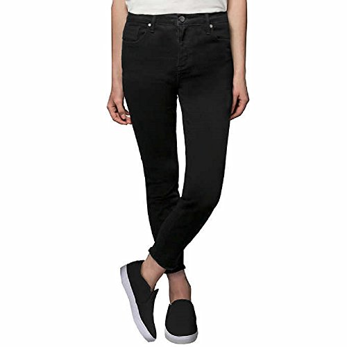 (Kenneth Cole Ladies' Stretch Ankle Skinny Jeans for Women (Black, 10))