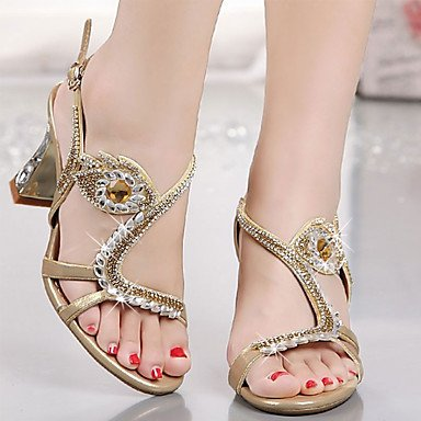 5 7 Summer amp; Club 5 Wedding Stiletto 5 Microfibre CN37 Rhinestone Crystal UK4 Party Fall EU37 Novelty Women'S Evening Comfort US6 Sandals Shoes RTRY Dress Heel fPqgREc