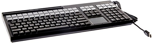 86 Key Us Keyboard (Cherry G86-71411EUADAA LPOS Qwerty Keyboard with USB Interface and 3-Track Magnetic Stripe Reader, 17
