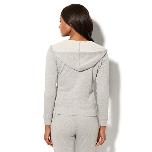 low-cost New York & Co. Women's Lounge - Lurex Zip-Front Hoodie