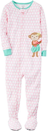 Footed Monkey Pajamas (Carter's Baby Girls' 1-Piece Monkey Pajamas 24 Months)