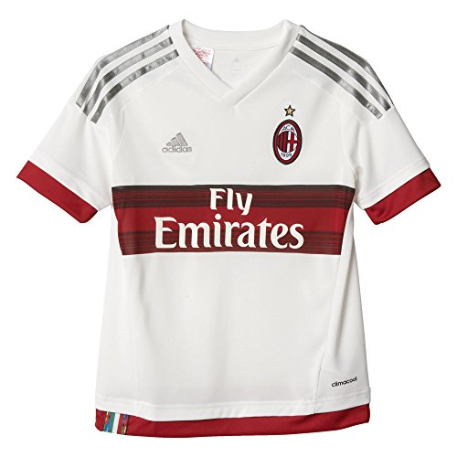 Adidas Youth Ac Milan 15/16 Away Jersey White/Grey Xl - Ac Milan White Jersey