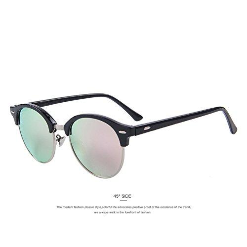 remache C07 clásico hombres polarizadas gafas de gafas marrón Unisex Espejo Pink marco medio C02 TIANLIANG04 sol de 0878fq