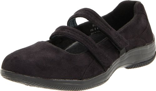 Propet Balans Womens Bilite Walker Mary Jane Svart Velour