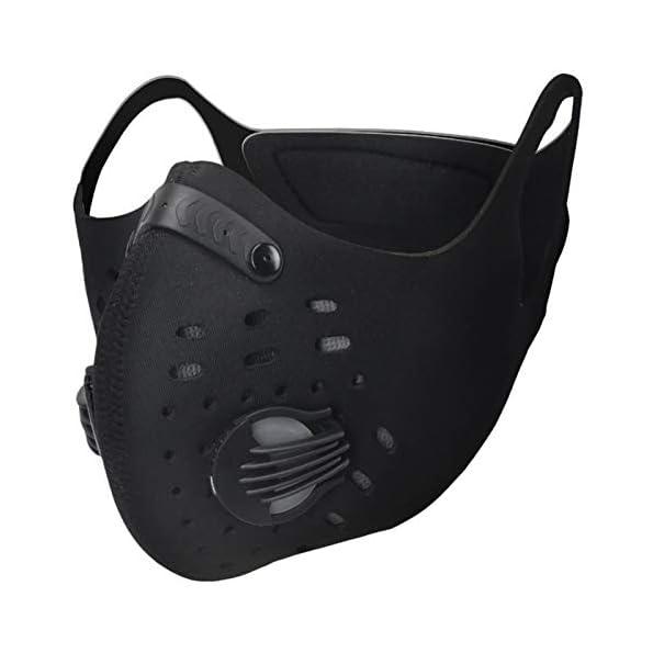 Soradoo-Sport-Maske-Atemmaske-Staubmaske-Motorrad-Fahrradmaske-Verschlu-Ventil-mit-Ersatzfilter-Gasmaske