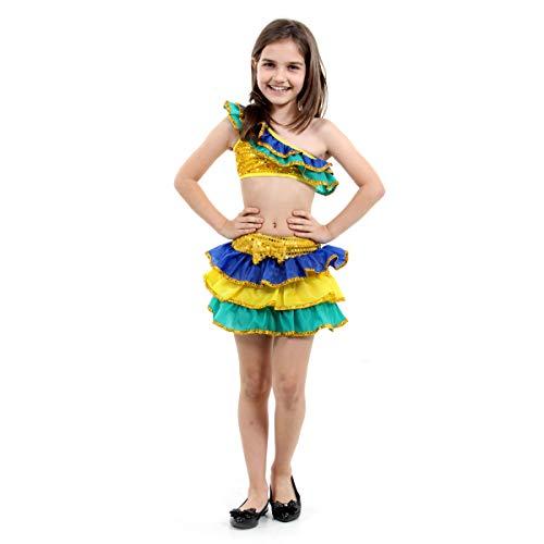 Fantasia Brasileirinha Infantil Sulamericana Fantasias M 6/8 Anos