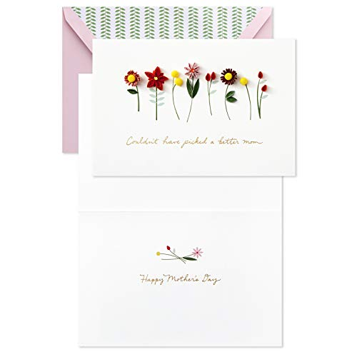 Hallmark Signature Mothers Day Card (Quilled Flowers, Couldn't Have Picked a Better Mom) by Hallmark (Image #7)
