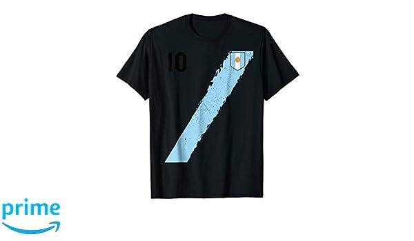 Amazon.com: Retro Argentina Team Soccer Futbol football Jersey T-Shirt: Clothing