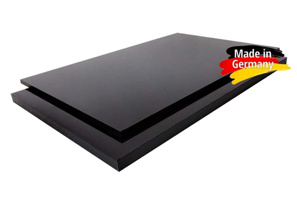 1000 x 1000 x 10 mm schwarz Zuschnitt alt-intech/® Platte aus POM