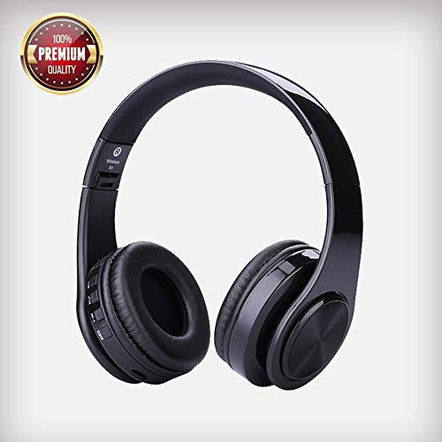 Dkaile Over Ear Bluetooth Headphones with Microphone, Hi-Fi Stereo Wireless Headset, TF Card MP3 Player/FM/AUX Wired Model Support, 9H Playtime for TV/Computer/iPhone/Samsung and Android Devices.