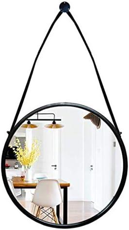 掛かるミラー - 浴室の壁ミラー - 掛かる鎖の黒の現代ヨーロッパ式の鉄フレーム