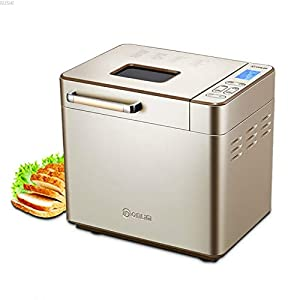 Automatic Bread Maker Programmable Bread Machine with Gluten Free Sitting, LED Display, Visual Menu (25 Programs, 3 Loaf…