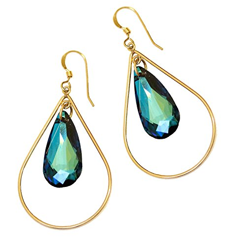 Sonia Hou Selfie Earrings, Swarovski Crystal Teardrop Earrings With 14K Gold Filled Teardrops Birthday Prom Valentines day gifts for her (Hot Sexy - For Gifts Her Valentine Hot