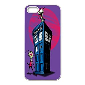 FOR Apple Iphone 5 5S Cases -(DXJ PHONE CASE)-Cartoon Game Pattern Invader Zim Gir-PATTERN 20