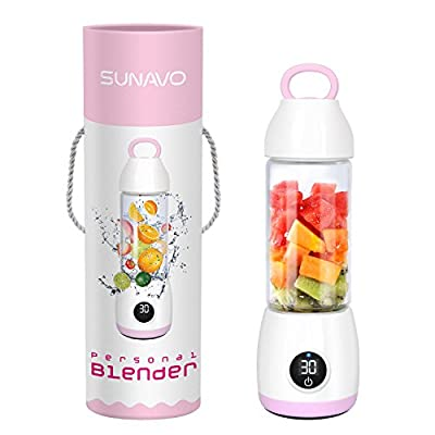 SUNAVO BL-10 Portable Blender Mixer USB Rechargeable,Blender Smoothie Single Served,USB Electric Safety Juicer Cup,Shakes and Smoothies Blender,USB Charging Sport Mini Juice Maker 148 watts,Green