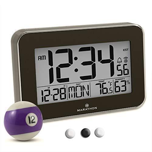 Marathon Wall Clock Acrylic Bezel. Displays Indoor