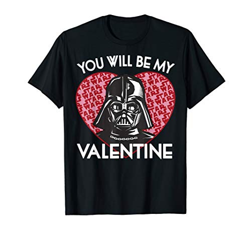 Star Wars You Will Be My Valentine Darth Vader Graphic Tee