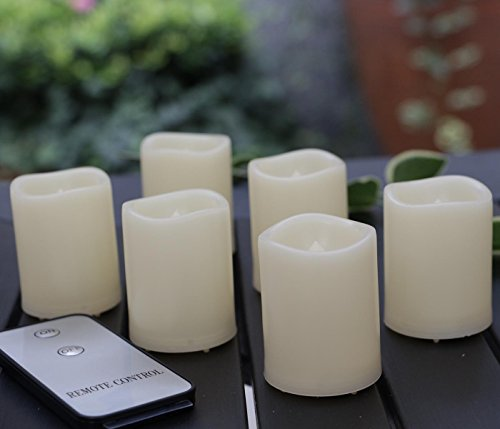 Bnlingxian Flameless Flickering Votive Candles with Remote,Electric Decorative LED Candles Set of 6 by Bnlingxian