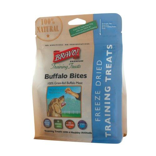 BRAVO 294121 Freeze Dried Buffalo Meat Training Treat for Pets, 2.5-Ounce, My Pet Supplies