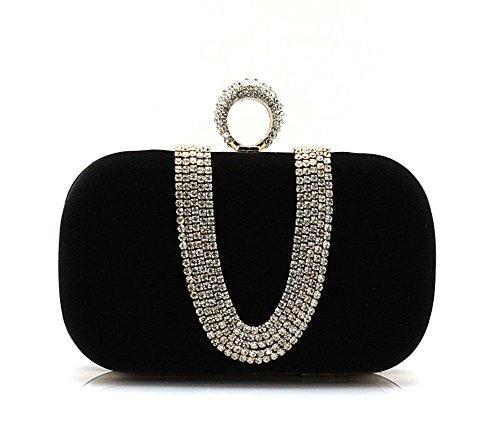 el mini bolso de cristal/La Sra paquete de banquete/La cena del embrague/anillo de Paquete/paquete de novia-B C