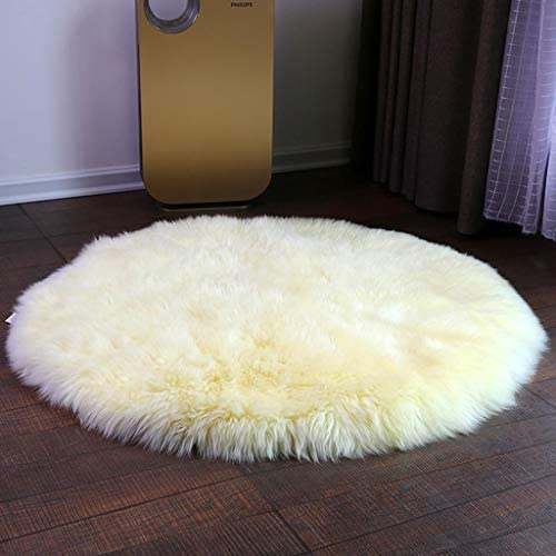 Pinkday Faux Sheepskin Area Rug Purple Round Area Rug Fake Sheepskin Carpet 4' Diameter