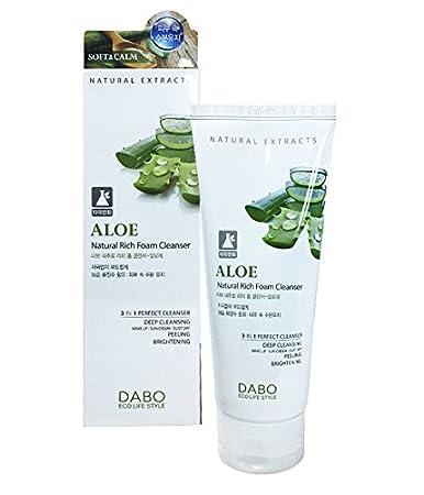 Sữa rửa mặt lô hội 3 in 1 Dabo Aloe Natural Rich Foam Cleanser 180ml - SRM10