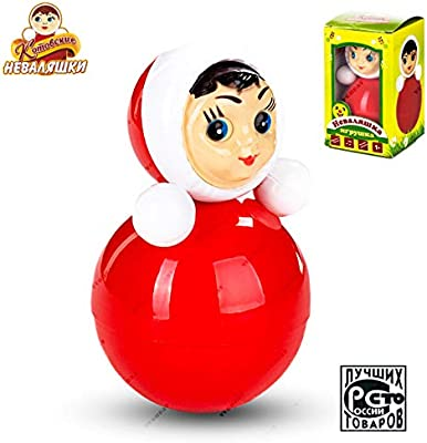 """Classic Nevalyashka Tumbler Little Girl Roly-Poly Toy With Sound M Size 9/"""""""