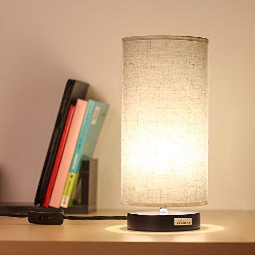 desk lamp fabric shade nightstand