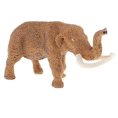 Flameer Plastic Realistic Wildlife Ocean Animals Action Figure Toys Playset, Kids Toddler Nature Toys Home Decor - American Mastodon