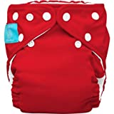 Charlie Banana 2-in-1 Reusable Diapering System Baby Cloth Diaper One Size, Includes 1 Diaper and 2 Inserts, Red
