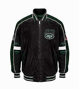 Amazon Com New York Jets Suede Leather Jacket Nfl Ny