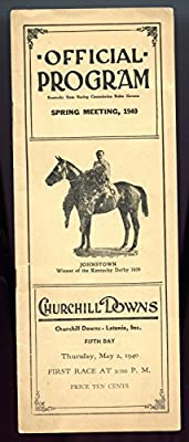1940 Churchill Downs Spring Meeting Program Fifth Day Kentucky Derby