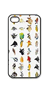 Custom Cover Case with Hard Shell Protection case for iphone 4 4s - Many different types of fish in Figure