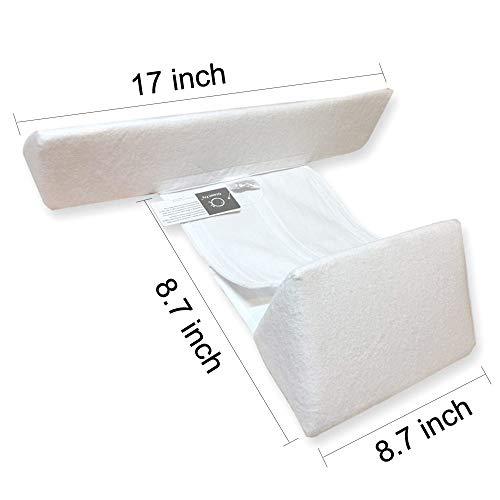 Comfortable /& Washable LANREN Newborns Infant Baby Sleep Pillow White