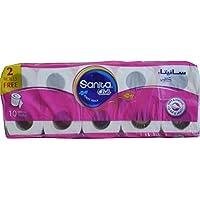 Sanita Club Toilet Tissue Embossed-Pack of 10 Rolls,2 PLY