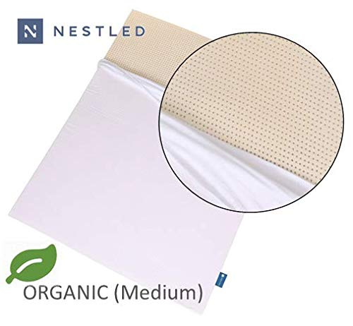 Organic 100% Natural Latex Mattress Topper - Medium Firmness - 2