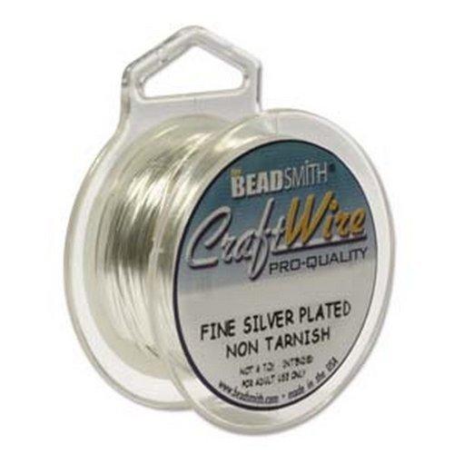 - Silver Plated Non Tarnish Wire 22 Ga.1 Spools 8 Yard Craft Wire