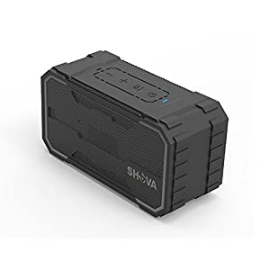 SHAVA Bluetooth Speaker, Outdoor IPX6 Waterproof Speaker, Portable Wireless Speaker 10W Drivers Speaker Enhanced Bass, Built in Mic Speakerphone, Aux-in, MicroSD for Beach,Pool,Party and Hiking(Ultra)